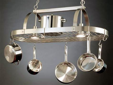 kitchen ceiling pot hangers a pot rack in its proper place hgtv