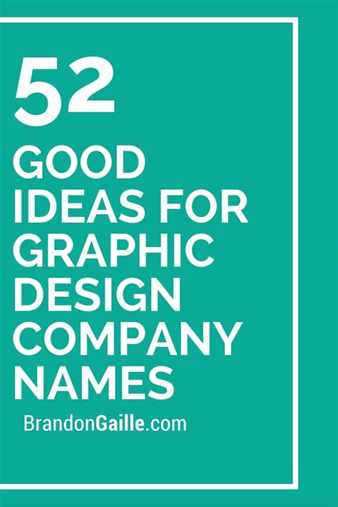 53 Good Ideas For Graphic Design Company Names Catchy
