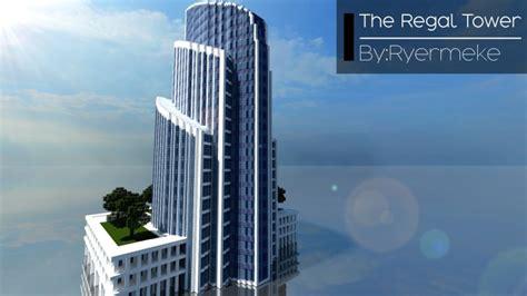 regal tower skyscraper  minecraft project
