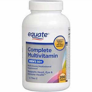 Equate Complete Ultra Men U0026 39 S Health Age 50  Multivitamin  Multimineral  200ct