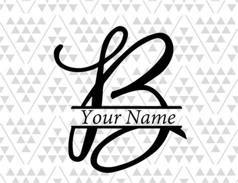 monogram letter  split letter  silhouette files digital