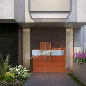 Mas modelos de Puertas de entrada modernas de madera maciza, diseños actuales contemporaneos