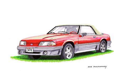 1989 Saleen Mustang Convertible Painting By Jack Pumphrey
