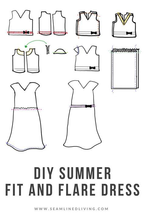 diy summer dress  fit flare dress sewing pattern
