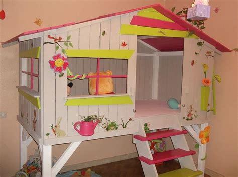 chambre cabane lit cabane chambre fille