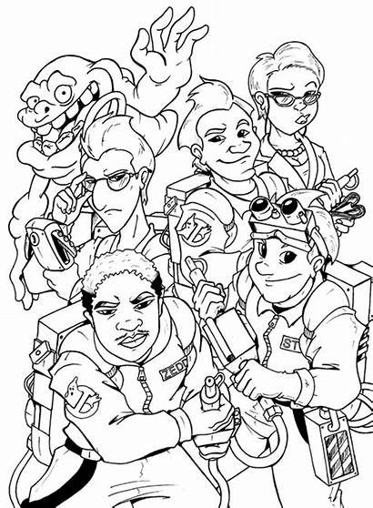 Ghostbusters Coloring Pages Printable Colouring Extreme Ghost