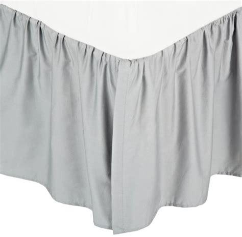 grey crib skirt american baby company 100 cotton percale crib skirt gray