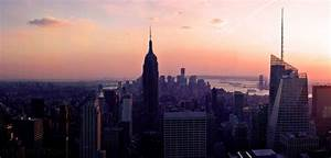 The dawn is fire bright against the city lights | New York ...