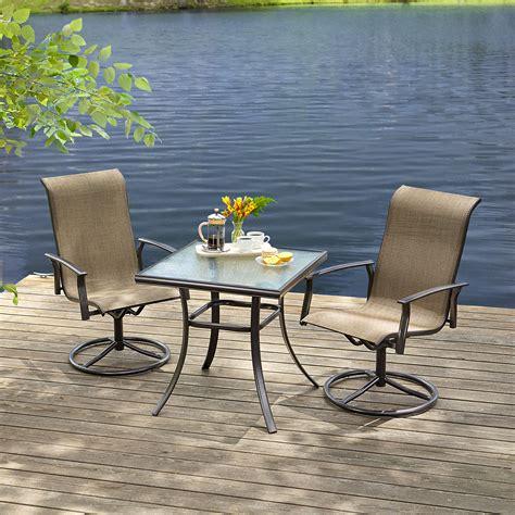 essential garden fulton 3pc bistro set outdoor living