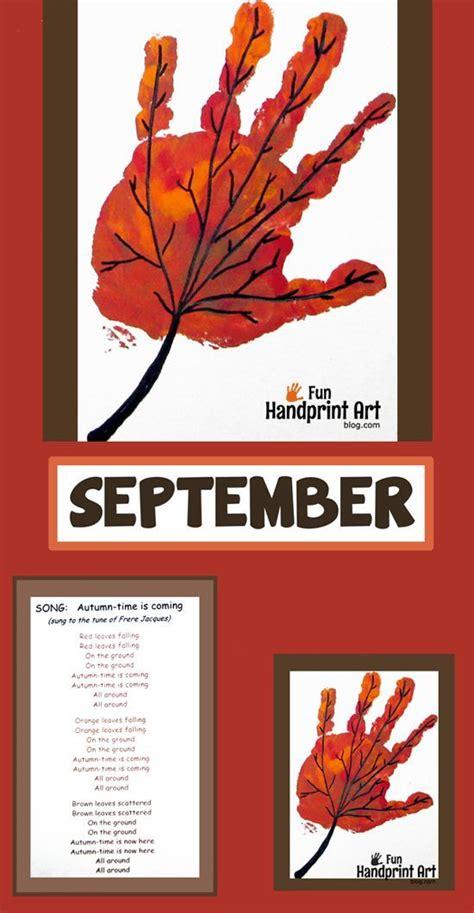 handprint leaf for september handprint calendar 160 | 5aba928dcee9346fb147e055ca86e156