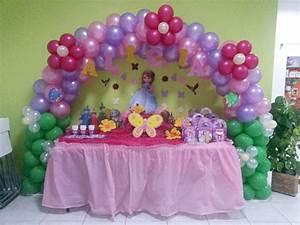 Decoración de cumpleaños Princesa Sofia YouTube