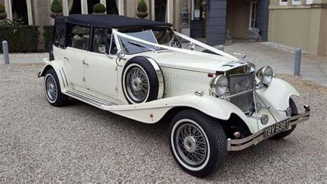 Cream Vintage Beauford Wedding Car Hire East London And Essex