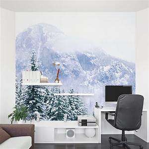 The Office Thanksgiving Snow Mountain Forest Wall Mural