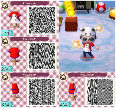 baymax tee qr code  animal crossing  leaf animal crossing qr animal crossing baymax