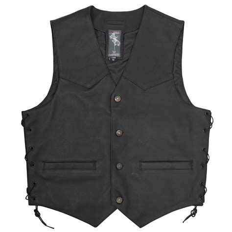 motorcycle jacket vest biker style motorcycle biker scooter low cut vest