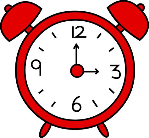time clipart red alarm clock design free clip art