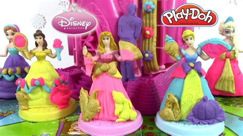 pate a modeler play doh princesse p 226 te 224 modeler play doh ch 226 teau princesses disney cendrillo aurore prettiest princess