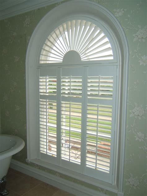 Arched Window Blinds by Plantation Shutter With Arch Window Plantation