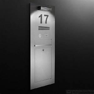 Hausnummer Beleuchtet Led : edelstahl designer einputzbriefkasten sprechstelle klingel hausnummer beleuchtet durch led ~ Frokenaadalensverden.com Haus und Dekorationen