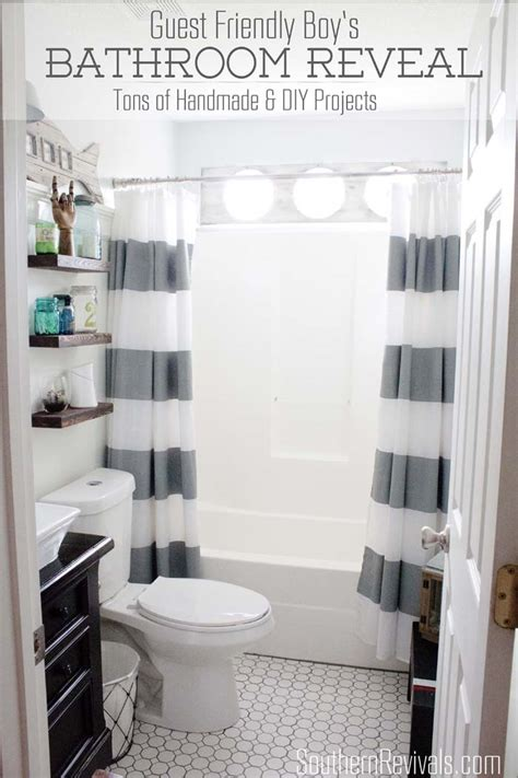nautical guest friendly boys bathroom makeover reveal southern revivals