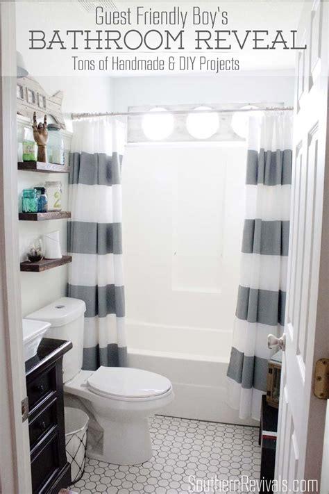 boy bathroom ideas nautical guest boys bathroom makeover reveal