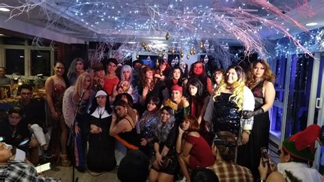 cross dressed theme christmas party frontrow frontrow