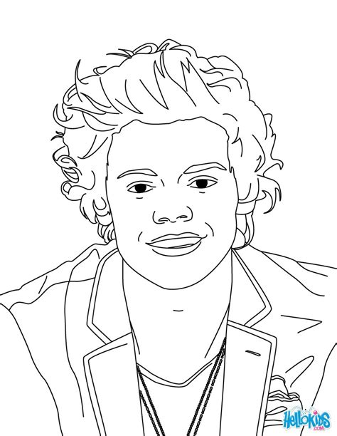 harry styles coloring pages hellokidscom