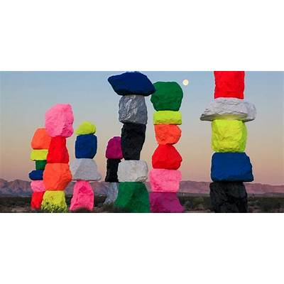 Ugo Rondinone Seven magic mountains - ARTEFIELDSArt