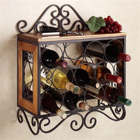 metal wine rack brown wooden wine racks with black metal frame and