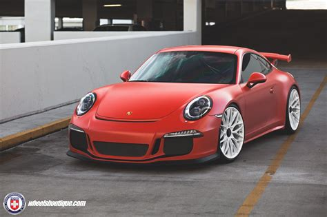 red porsche matte red porsche 991 gt3 on hre p200 wheels my car portal