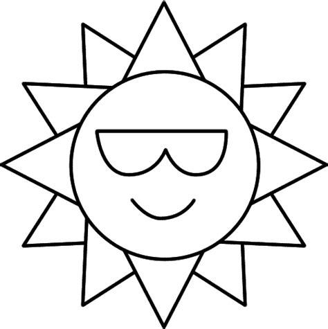 Sole con raggi triangolari da stampare e da colorare