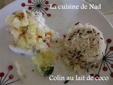 colin ou saumon au lait de coco la cuisine de nad