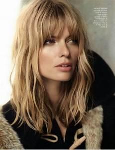 Coupe Longue Femme : coiffures cheveux mi longs frange ~ Dallasstarsshop.com Idées de Décoration