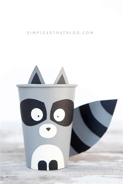 table decorations for birthday dinner woodland creature cup crafts