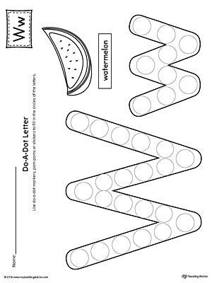 all about letter w printable worksheet myteachingstation 506   Do A Dot Letter W Worksheet