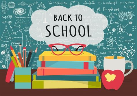 Back To School Backgroun Vector  Free Download