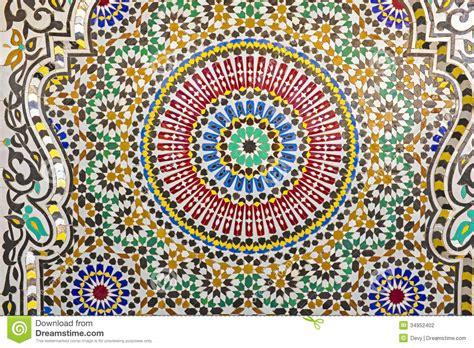 Papier Peint Mosaique Marocaine by Mosa 239 Que Orientale Au Maroc Photo Stock Image 34952402