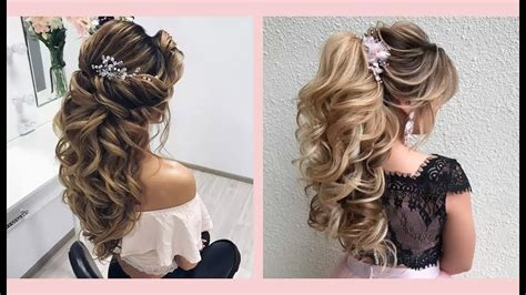curly prom hairstyles  medium long hair curly