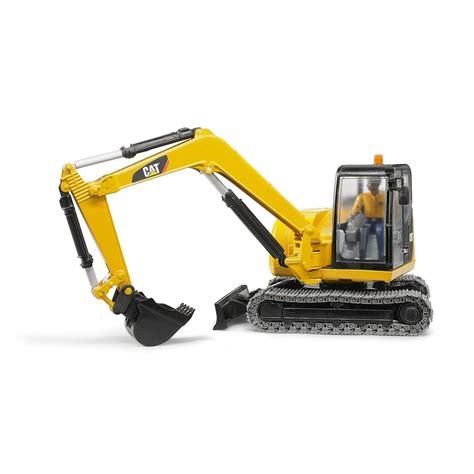 bruder excavator bruder mini excavator with worker jadrem toys