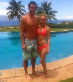 jordy nelson bikini hayden panettiere plays tennis and basketball during her