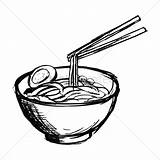 Noodles Bowl Noodle Drawing Coloring Soup Vector Pages Bar Getdrawings Again Looking Case Don sketch template