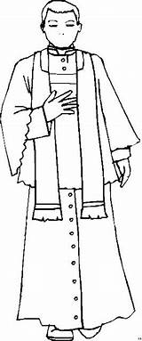 Priester Sacerdote Sacerdotes Besorgt Clergyman Colorin Ausmalbild Vestments sketch template