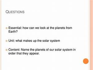 Questions About the Solar System (page 2) - Pics about space