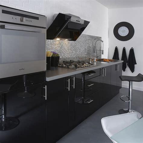four de cuisine encastrable meuble de cuisine noir delinia leroy merlin