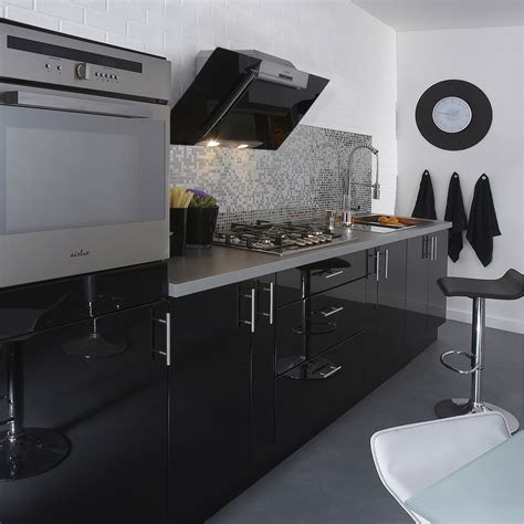 meuble cuisine leroy merlin delinia meuble de cuisine noir delinia leroy merlin