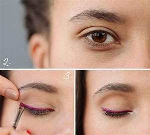Maquillage Yeux Tuto : nouveaut maquillage des yeux l 39 eyeliner en couleurs vives ~ Nature-et-papiers.com Idées de Décoration