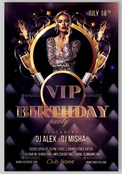 birthday flyer template  planning template
