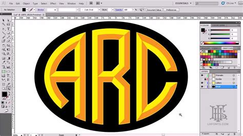 lhf monogram oval part  making  letters youtube