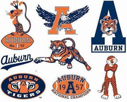 Auburn Logos Eagle Then War University Tigers