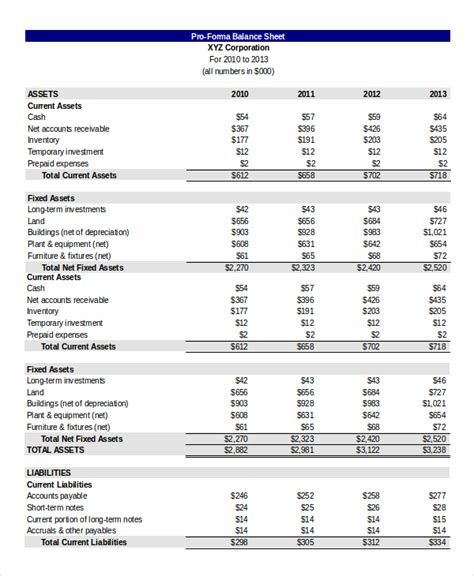 balance sheet template balance sheet 18 free word excel pdf documents free premium templates